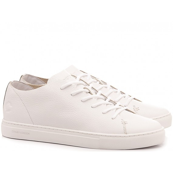 Crime London Men's High Sneakers Raw Low White