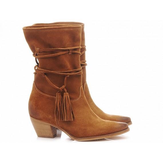 Curiositè Women's Ankle Boots Suede 1567 Wisky