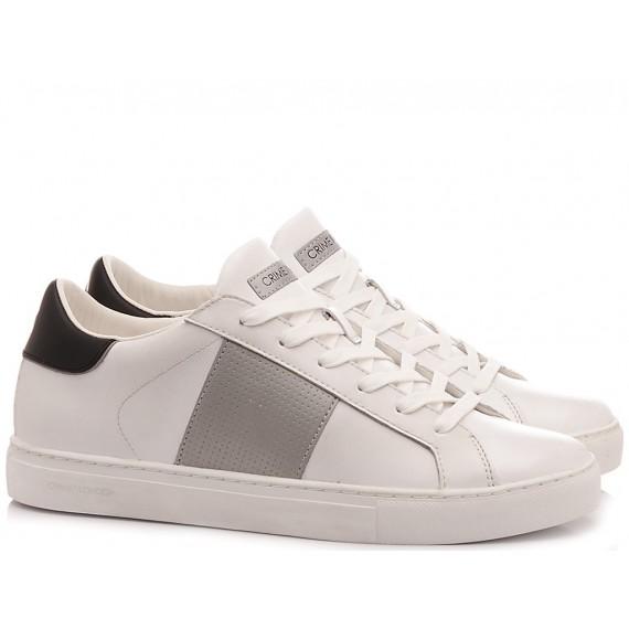Crime London Men's High Sneakers Beat White