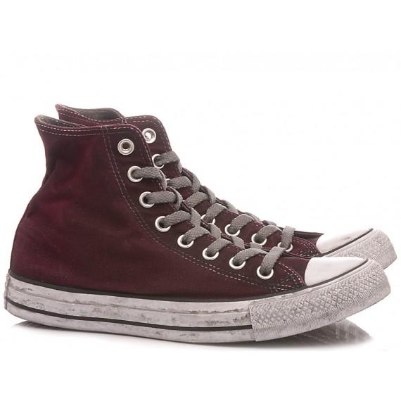 Converse All Star Sneakers Alte Donna CTAS Canvas LTD HI Maroon