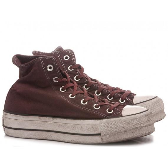 Converse All Star Sneakers Alte Donna CTAS LIFT Canvas LTD HI Maroon