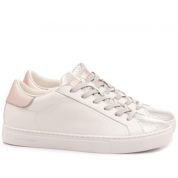 Crime London Women's Low Sneakers Beat White