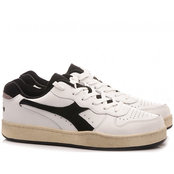 Diadora Men's Sneakers Mi Basket Low Used White-Black