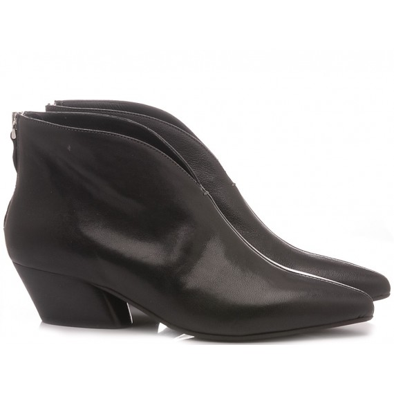 MAT:20 Women's Ankle Boots Leather Black 5357