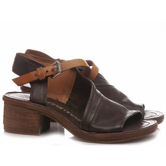 A.S. 98 Women's Sandals Leather Ebony 690022
