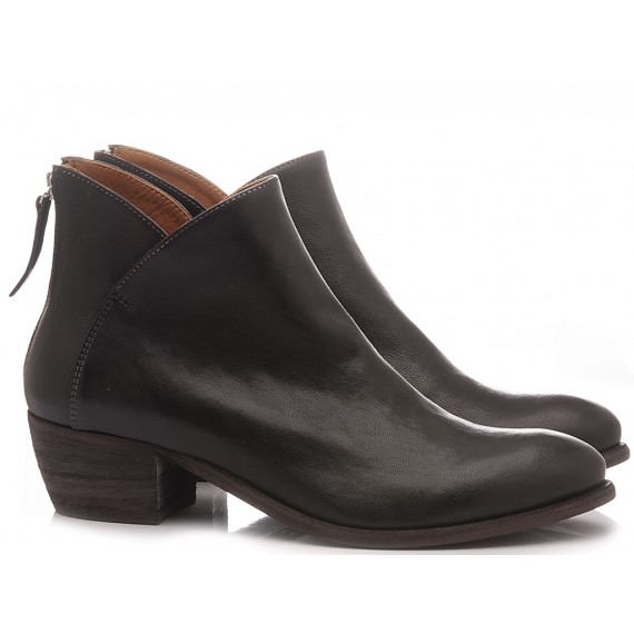 MAT:20 Women's Ankle Boots Leather Black 5706