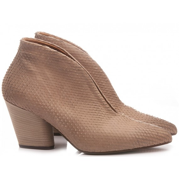 MAT:20 Women's Ankle Boots Leather Stone 5614