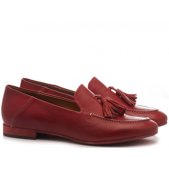 MAT:20 Women's Loafers Leather Red 3394