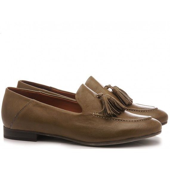 MAT:20 Women's Loafers Leather Green 3394