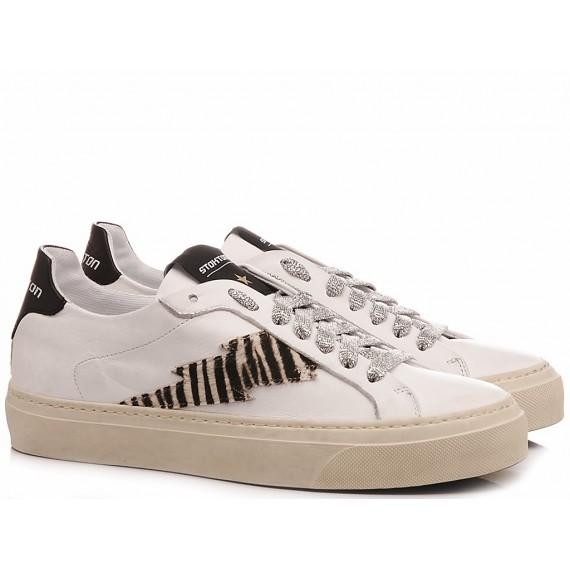 Stokton Women's Sneakers Leather White Blaze D Zambia