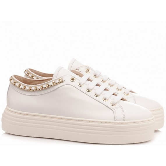 Stokton Women's Sneakers Leather White 110-D