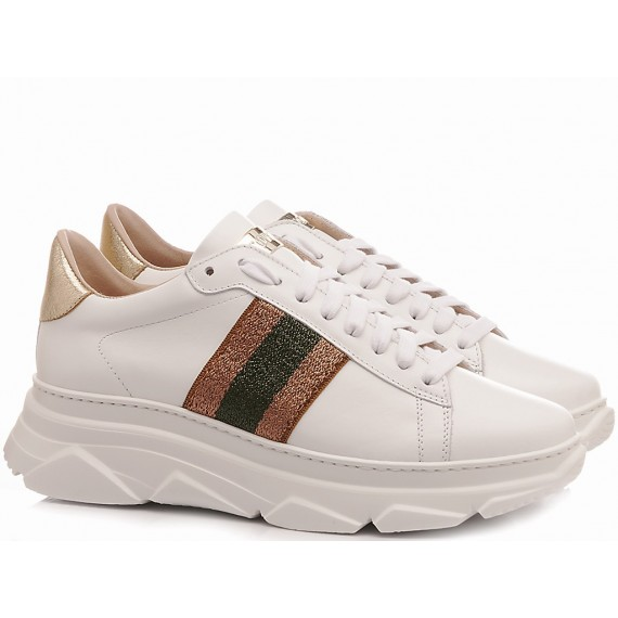 Stokton Women's Sneakers Leather White 758-D
