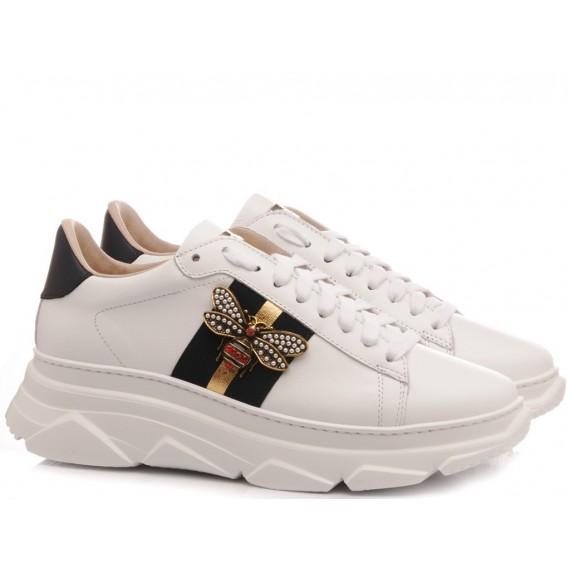 Stokton Women's Sneakers Leather White 756-D