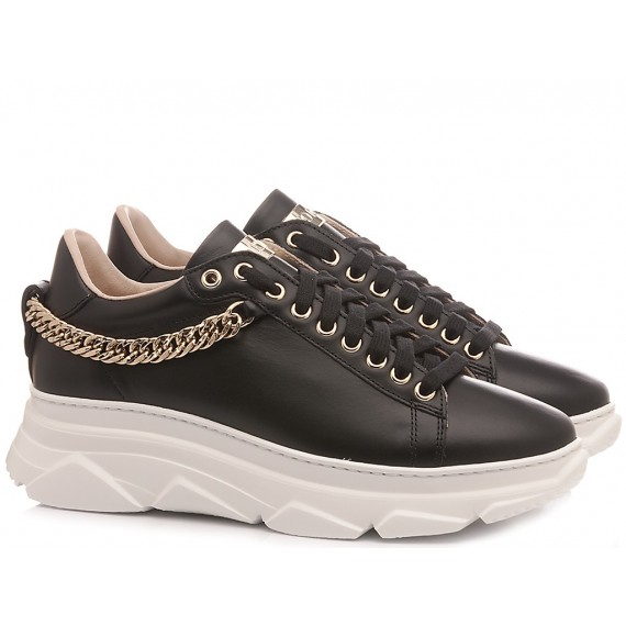 Stokton Women's Sneakers Leather Black 793-D-UP