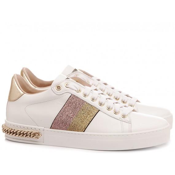 Stokton Women's Sneakers Leather White 741-D