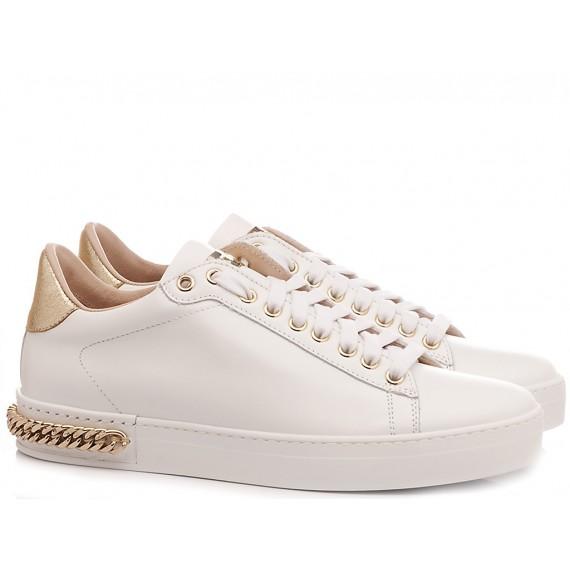 Stokton Women's Sneakers Leather White 740-D