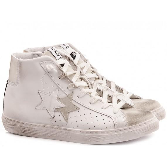 2-Star Sneakers Alte Uomo Pelle Bianco 2SU2754