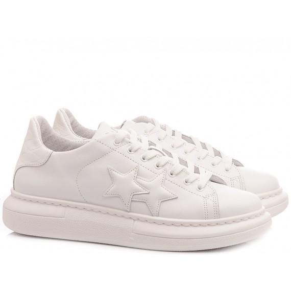 Herrenschuhe 2-Star Weiße Leder 2SU2690