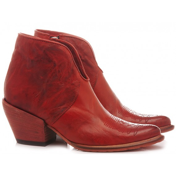History 541 Women's Ankle Boots India 12 Red