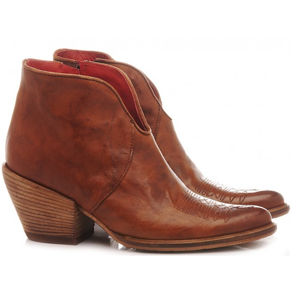 History 541 Women's Ankle Boots India 12 Rust