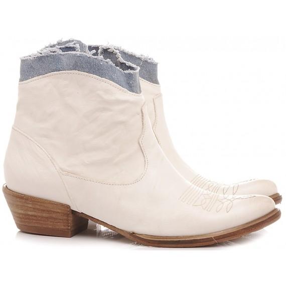 History 541 Women's Ankle Boots EK2/20BIC White