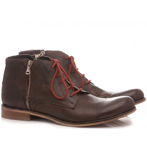 JP David Men's Ankle Boots Leather Brown