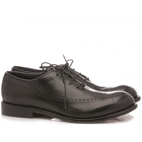 JP David Men's Shoes Leather Black 36526/12