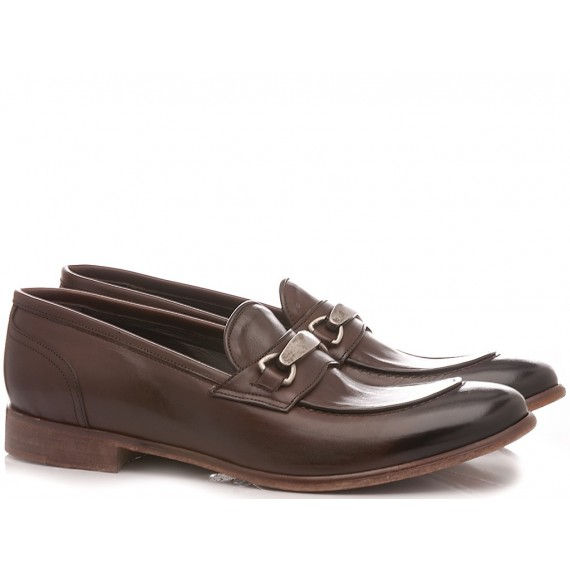 JP David Men's Shoes Loafers Leather Brown 37012/2