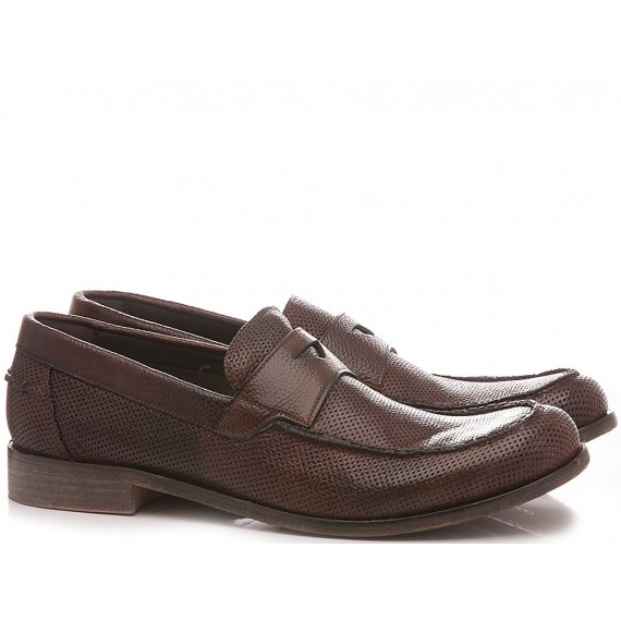 JP David Men's Shoes Loafers Leather Brown 2580/1