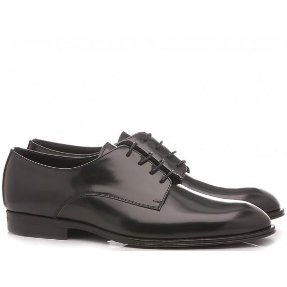 Franco Fedele Men's Classic Shoes Leather Blue 6391
