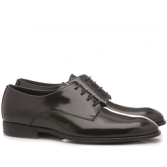 Franco Fedele Men's Classic Shoes Leather Black 6391