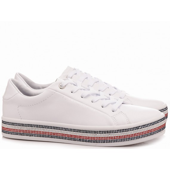 Tommy Hilfiger Sneakers Donna Jeweled Bianco