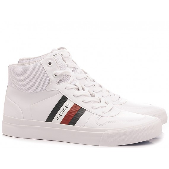 Tommy Hilfiger Men's Sneakers High Modern White