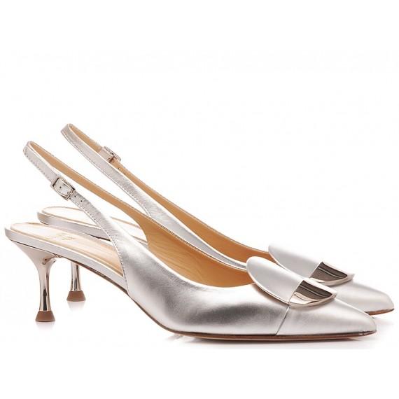 Chantal Woman's Shoes Chanel Luxor Silver 1018