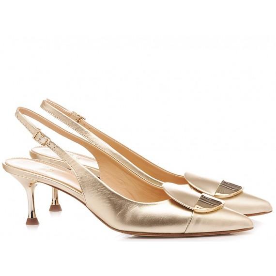 Chantal Woman's Shoes Chanel Luxor Platinum 1018