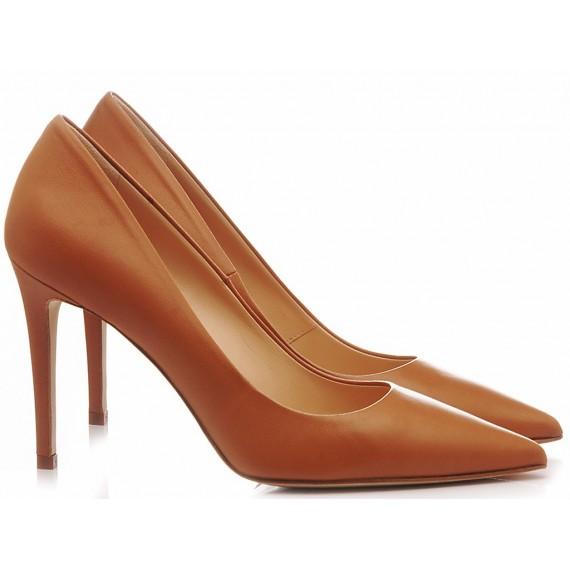 Chantal Woman's Shoes Decolletè Cognac 1029