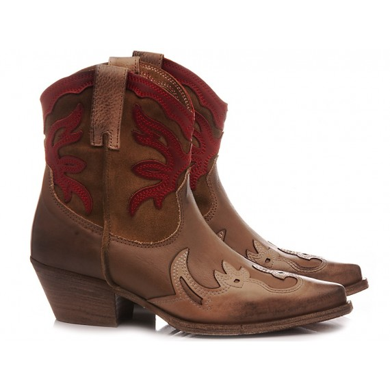 Metisse Stivaletti Texani Donna DX221-3 Cuoio