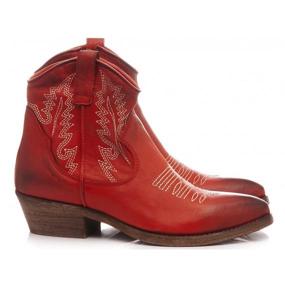 Metisse Stivaletti Texani Donna Tex603 Rosso