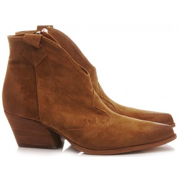 Les Venues Women's Western Boots Suede Nut 9550