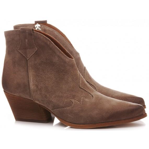 Les Venues Women's Western Boots Suede Sand 9550