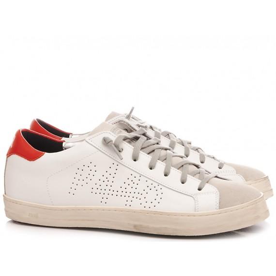 P448 Men's Low Sneakers S20 John-M White-Red