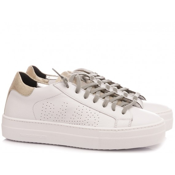 P448 Sneakers Basse Donna S20 Thea-W White-Gold