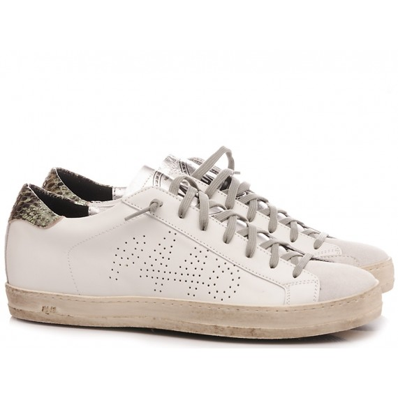 P448 Sneakers Basse Donna S20 Jhon-W White-Gold