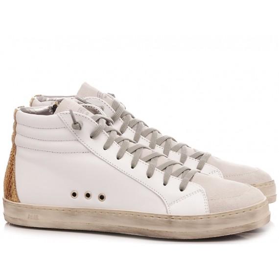 P448 Sneakers Alte Donna S20 Skate-W White-Gold