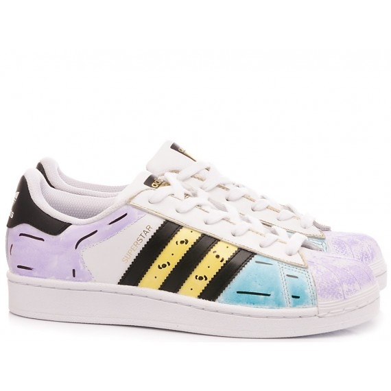 Adidas Woman's Sneakers Superstar Grafic Colors
