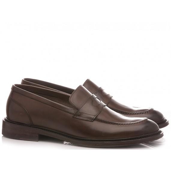 Brecos Men's Loafers Leather Ebony 9500E20