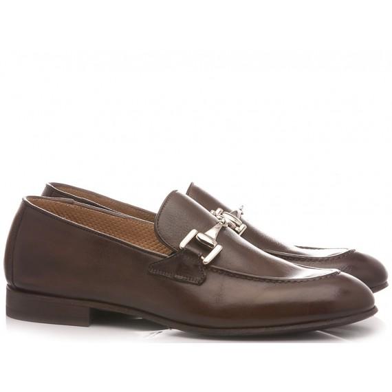 Brecos Men's Loafers Leather Ebony 9515E20