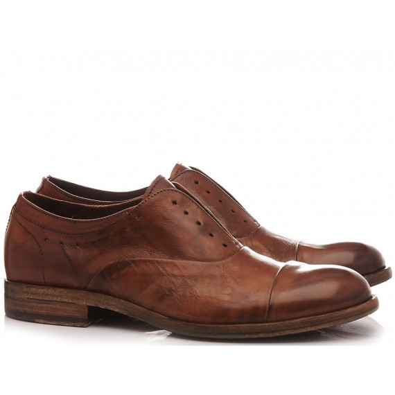 Pawelk's Men's Classic Shoes Leather Brown 17803