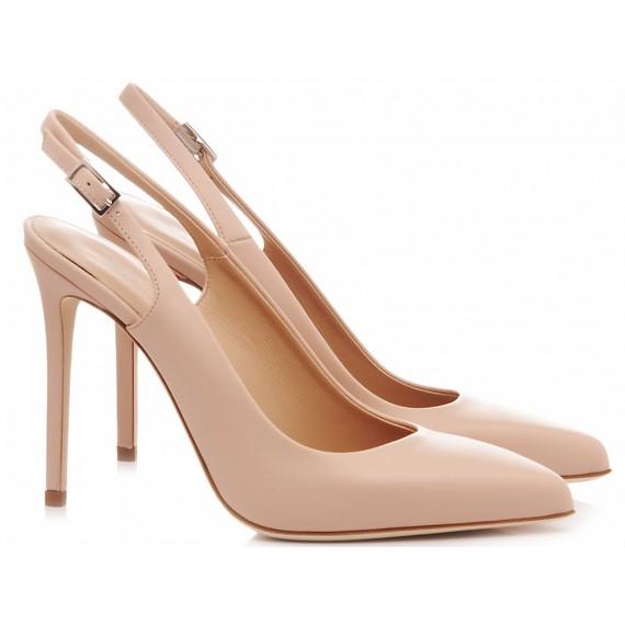 Sergio Levantesi Women's Shoes Chanel Bulgarino Nude