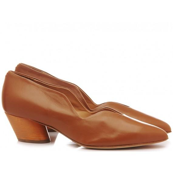 Halmanera Woman's Shoes Leather Juni 69 Caramel